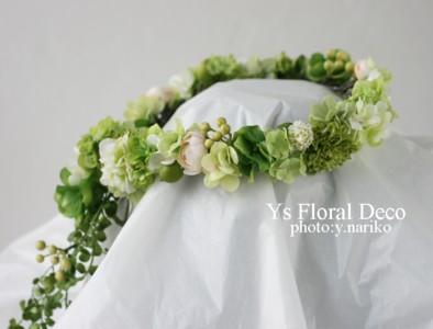 緑色の花冠&ブートニア バリ島挙式のおふたりへ_b0113510_17154638.jpg