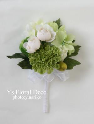 緑色の花冠&ブートニア バリ島挙式のおふたりへ_b0113510_17155989.jpg