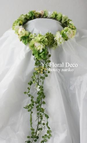 緑色の花冠&ブートニア バリ島挙式のおふたりへ_b0113510_1716781.jpg