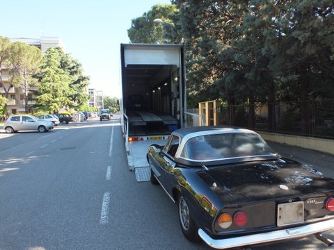 Fiat Dino spider has been collected this morning_a0129711_21482227.jpg