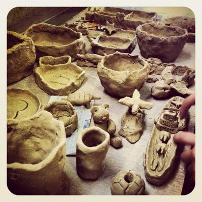 小学校で陶芸教室_a0197647_15302027.jpg