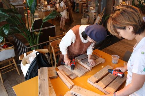 DIY女子ワークショップ ディスプレイラックを作ろう!_d0237564_17144787.jpg