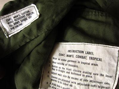 US(米軍) NAM戦 ジャングルファティーグジャケット2nd【SMALL-REGULAR】_e0337274_11522394.jpg