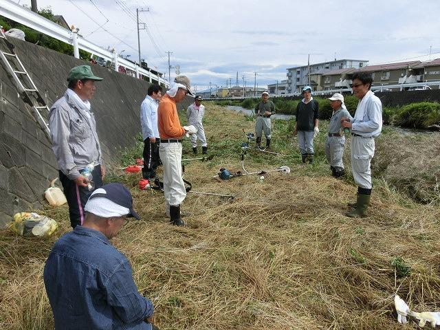 雨上がりの湿気の中「小潤井川 友の会」で草刈り_f0141310_7353258.jpg