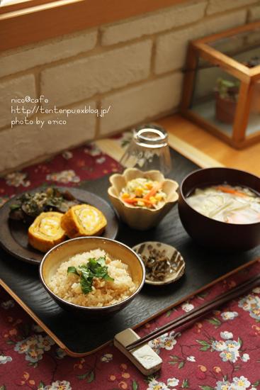 和食ランチ~休みの日の手抜きグッズ♪_f0192151_2140898.jpg