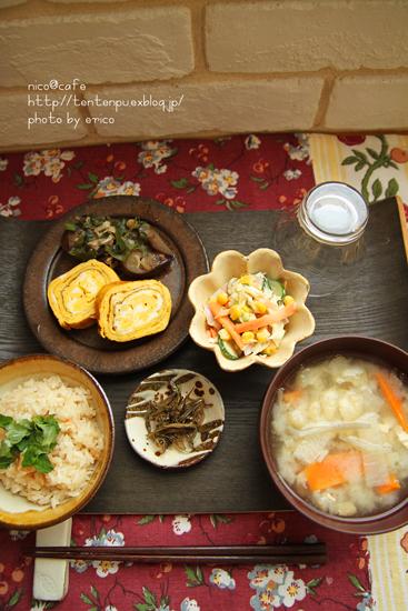 和食ランチ~休みの日の手抜きグッズ♪_f0192151_221484.jpg
