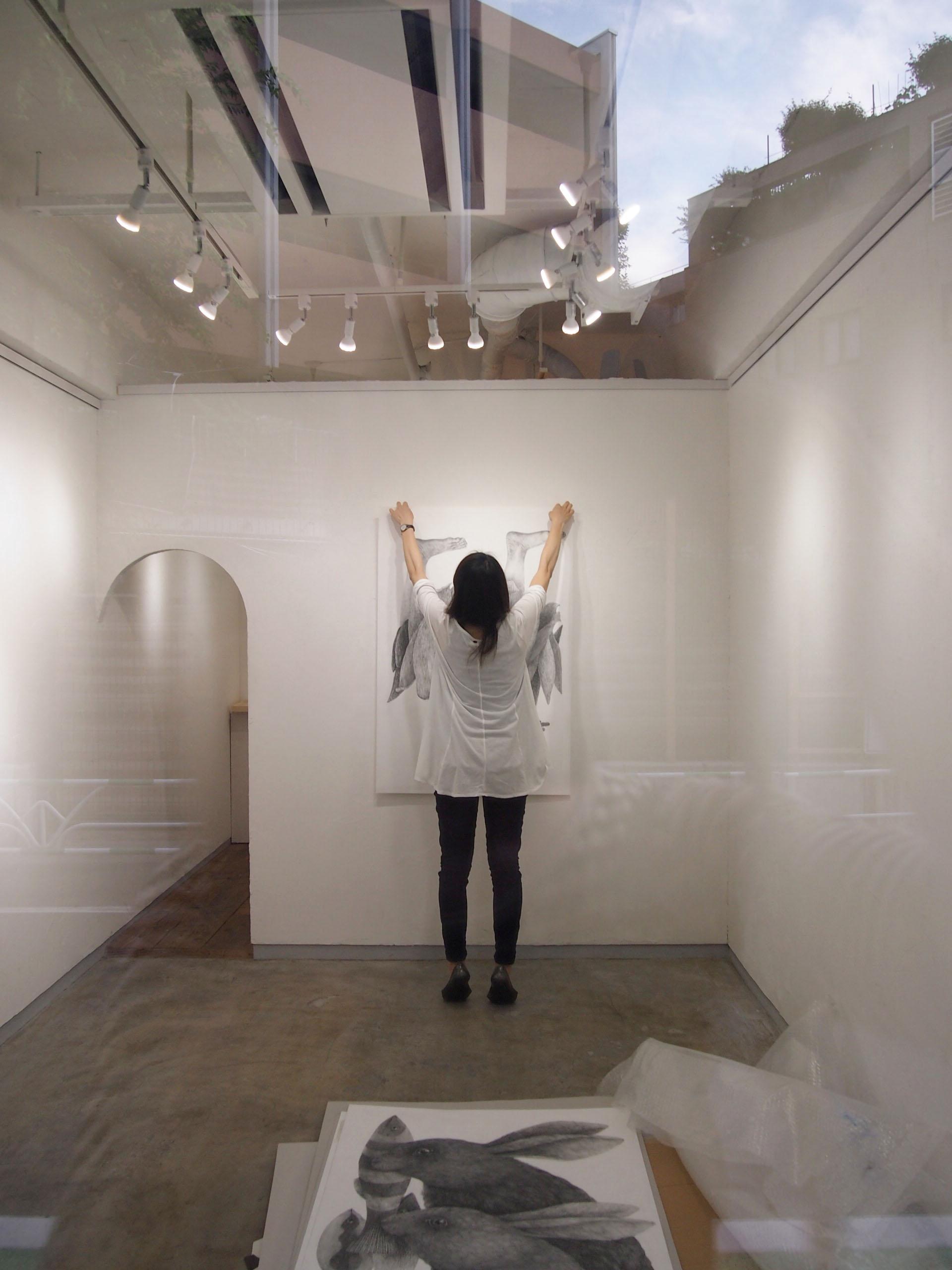 林 明日美展「どこにいるのか」@搬入〜初日_e0272050_162787.jpg