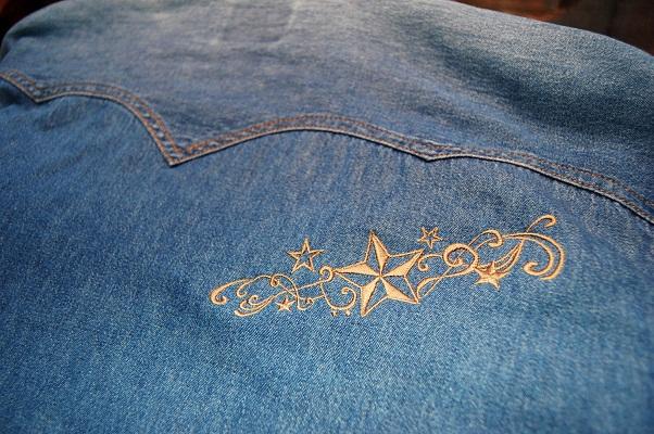 デニムシャツに刺繍_e0260759_2146187.jpg