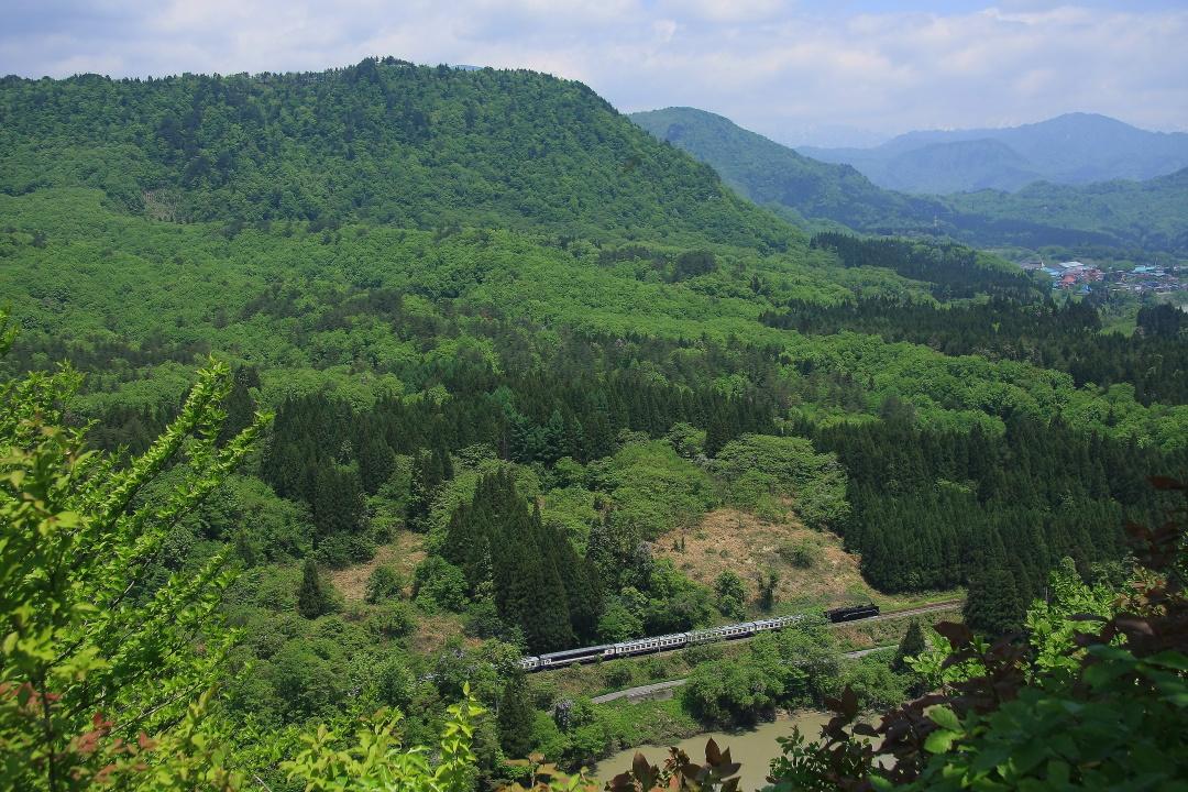 新緑に白い帯 - 2012年・磐西 -  _b0190710_2354590.jpg