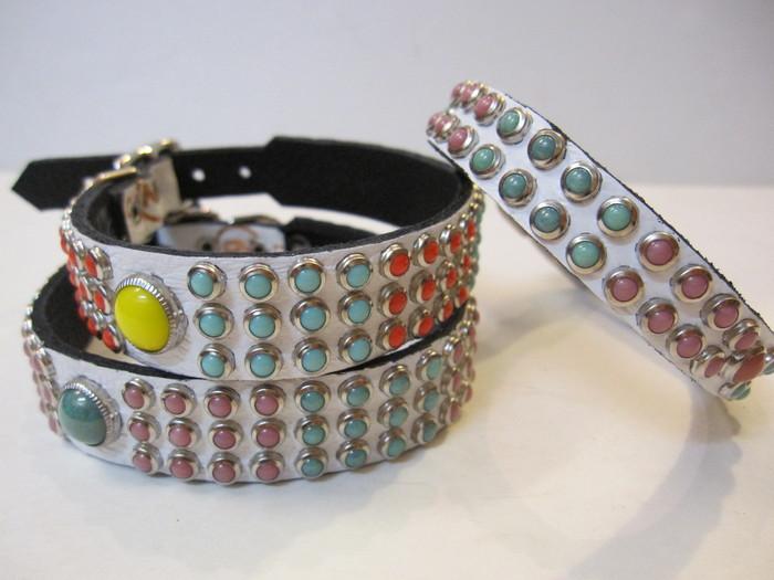 RN Design Laurel Collar Napa pink & Tribal Collar in White_c0151934_23385343.jpg