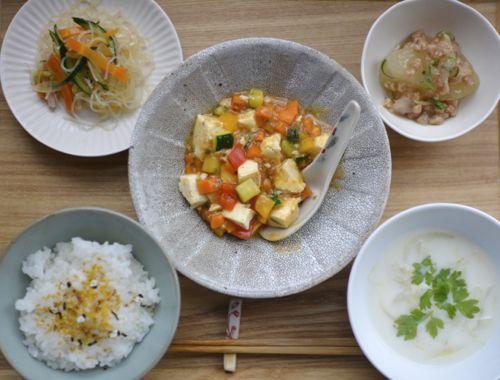 夜ごはん*夏野菜の麻婆豆腐_e0140171_16182739.jpg