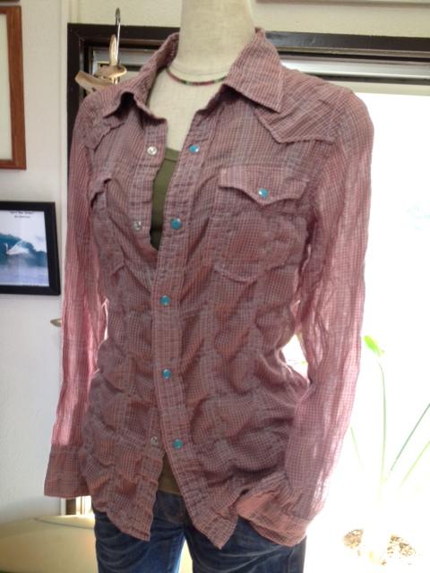 フルーツで染めた涼しいウエスタンシャツ!_d0108933_1642251.jpg