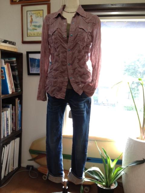 フルーツで染めた涼しいウエスタンシャツ!_d0108933_1642835.jpg