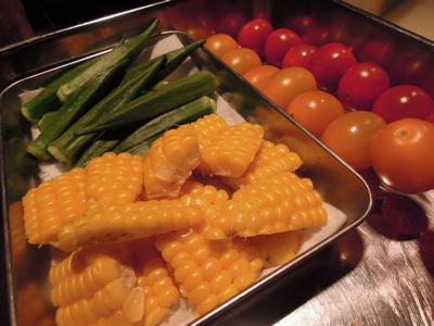 夏野菜のおひたし・仕込み_f0232994_328315.jpg