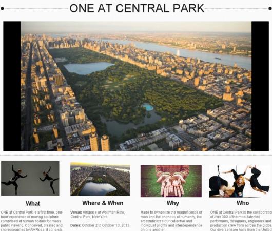 今秋ニューヨークに地上46メートルでの100名ものパフォーマーによるショーが登場!!! ONE at Central Park_b0007805_1014376.jpg