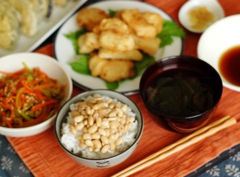 納豆定食。もとい、てんぷら定食。_b0253205_3491356.jpg