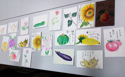 色鉛筆画教室(三好市中央図書館)_f0043592_1003814.jpg