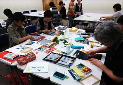 色鉛筆画教室(三好市中央図書館)_f0043592_1004270.jpg