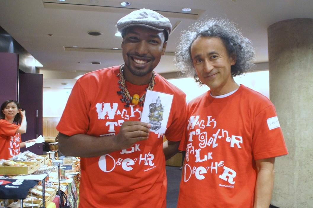 東日本大震災被災地とガーナ支援「PEACE QUEST」@クエストホールご来場御礼!/25日~4人展@レクトヴァーソ_f0006713_012236.jpg