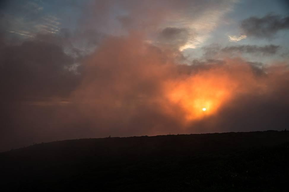 スーパームーンの日の夕陽_e0271864_2157479.jpg