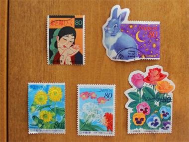 可愛い切手・・・と、昨日から寝込んでた事_a0275527_1673637.jpg