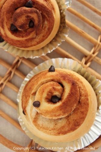 手強い粉「TSUBAKI」で、シナモンチョコのくるくるパン!_a0165538_915833.jpg