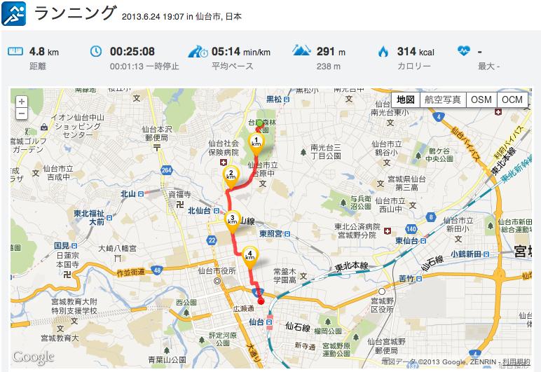 仙台 疲労回復ジョグ「11km」_c0067646_5531993.png