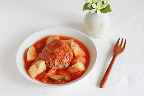 6月24日 夫のトマトと野菜の煮込みハンバーグと映画「レ・ミゼラブル」のこと♪_a0154192_1846824.jpg