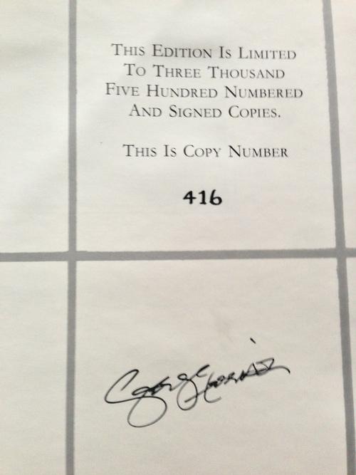 2013-06-26 ジョージのサイン入り豪華本_e0021965_1218384.jpg