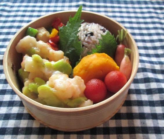 6.26 エビしんじょのお弁当とコロコロ丼の朝ごはん_e0274872_7521241.jpg