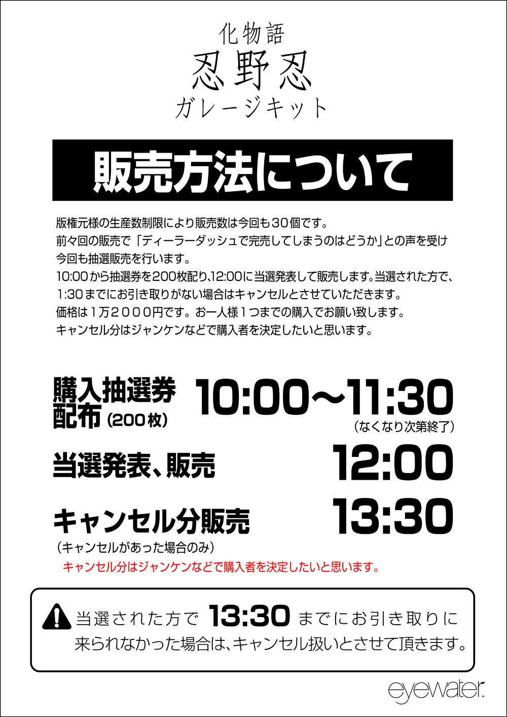 ワンフェス2013夏 ガレージキット忍野忍 販売方法_e0206358_18335067.jpg