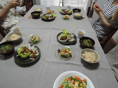 野菜テリーヌ、ひじきこんにゃく、高きび肉味噌風を作りました_b0252363_17305562.jpg