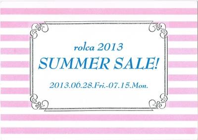 rolca2013 SUMMER SALE_a0253688_1910510.jpg