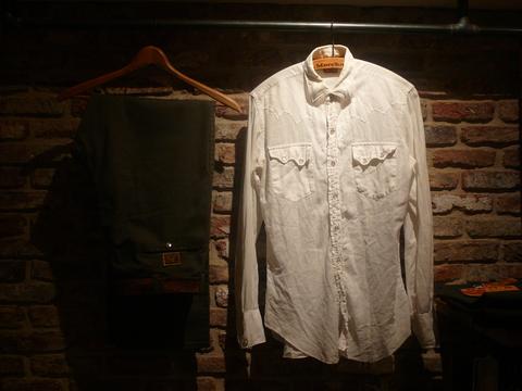 "1960s \""TEM TEX\"" vintage white western shirts ._d0172088_19394738.jpg"