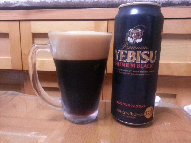 今夜のビールVol.74 ヱビス・プレミアム・ブラック500ml¥323_b0042308_0393865.jpg