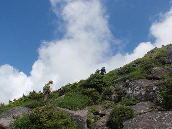 磐梯山、弾丸コースの翁島登山道_a0096989_23584453.jpg