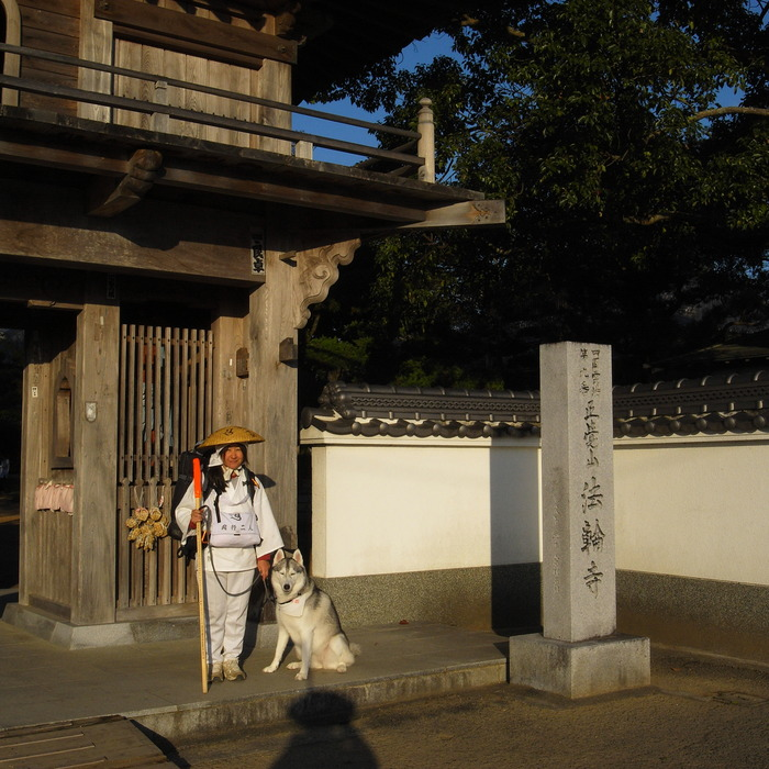 Memory of the second pilgrimage 1200km with husky HANA_c0049299_13582078.jpg