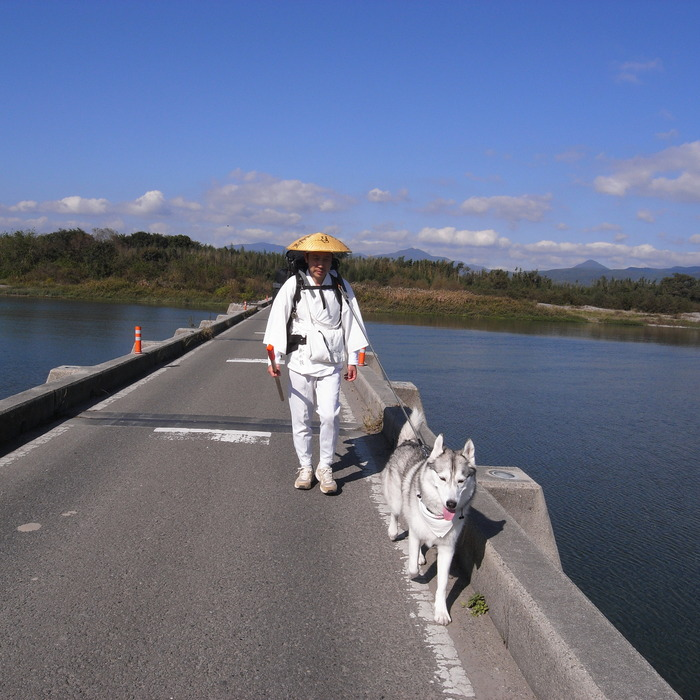 Memory of the second pilgrimage 1200km with husky HANA_c0049299_15422872.jpg