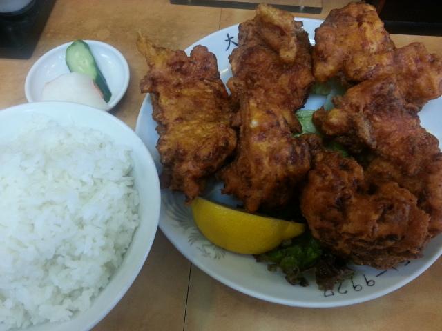 6/23 大進亭 鳥からあげ定食と子ラーメンのセット(Aセット)¥1,000@八王子市_b0042308_10213444.jpg