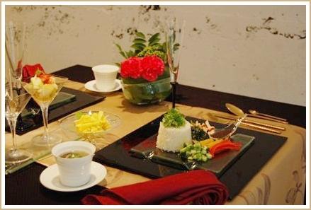 アジアンフードで異国の香り漂うコーディネート♪             ~テーブル&フードクラス_d0162543_0181213.jpg