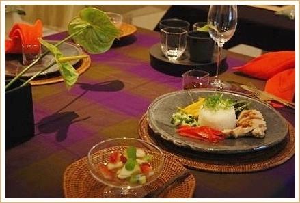 アジアンフードで異国の香り漂うコーディネート♪             ~テーブル&フードクラス_d0162543_0203087.jpg