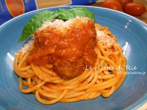 うちのミートボールスパゲッティ♪ Spaghetti e Polpette_b0246303_1756861.jpg