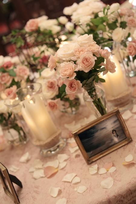想い出の写真を飾るテーブル シェ松尾青山サロン様へ_a0042928_1056044.jpg