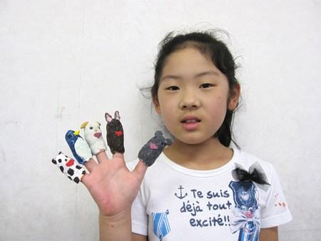 長尾教室 ~指人形作り&水彩画~_f0215199_1411161.jpg