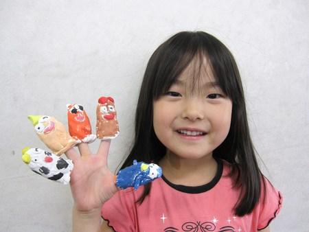 長尾教室 ~指人形作り&水彩画~_f0215199_1475688.jpg