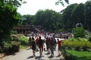 初夏のセントラルパーク、ベセスダ噴水の周辺の様子_b0007805_21434489.jpg