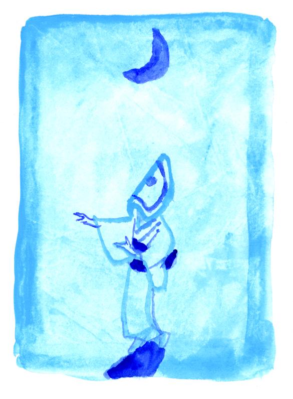 全日空機内誌翼の王国7月号吉田修一「空の冒険」さし絵_c0075725_13445670.jpg