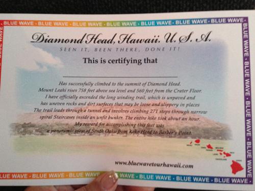 ハワイ♪  ダイヤモンドヘッド登頂☆_e0154202_17414233.jpg