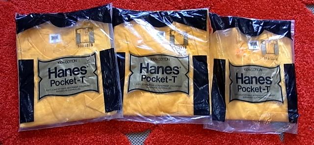 7/6(土)入荷!70'S HANES ポケットTシャツ! Sサイズ_c0144020_14321956.jpg