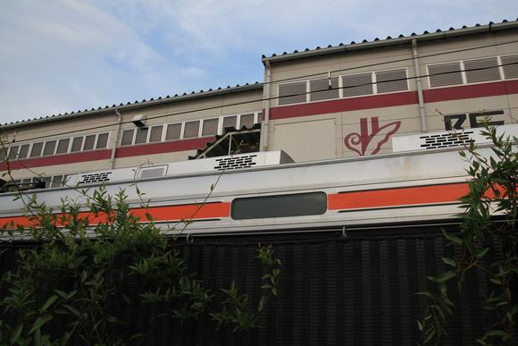 阪急正雀レポ 堺筋線66系 66602 アルナ車両から出場_d0202264_19571927.jpg